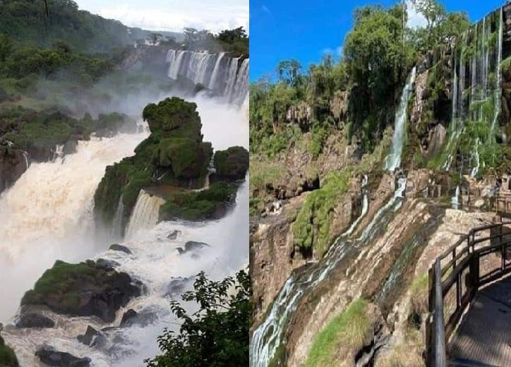 Estiagem transforma paisagem das Cataratas do Iguaçu – RPI – Rádio ...